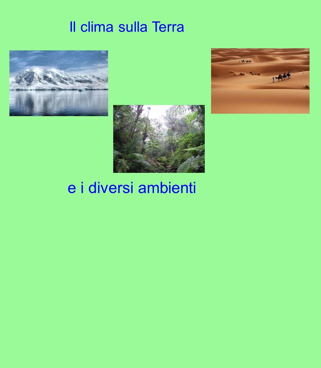 Il clima sulla Terra e i diversi ambienti