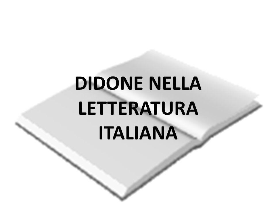 DIDONE NELLA LETTERATURA ITALIANA