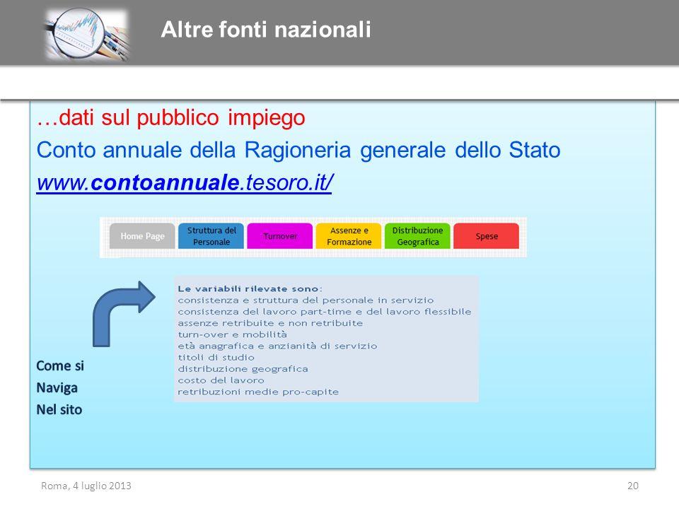 Altre fonti nazionali Roma, 4 luglio 201320