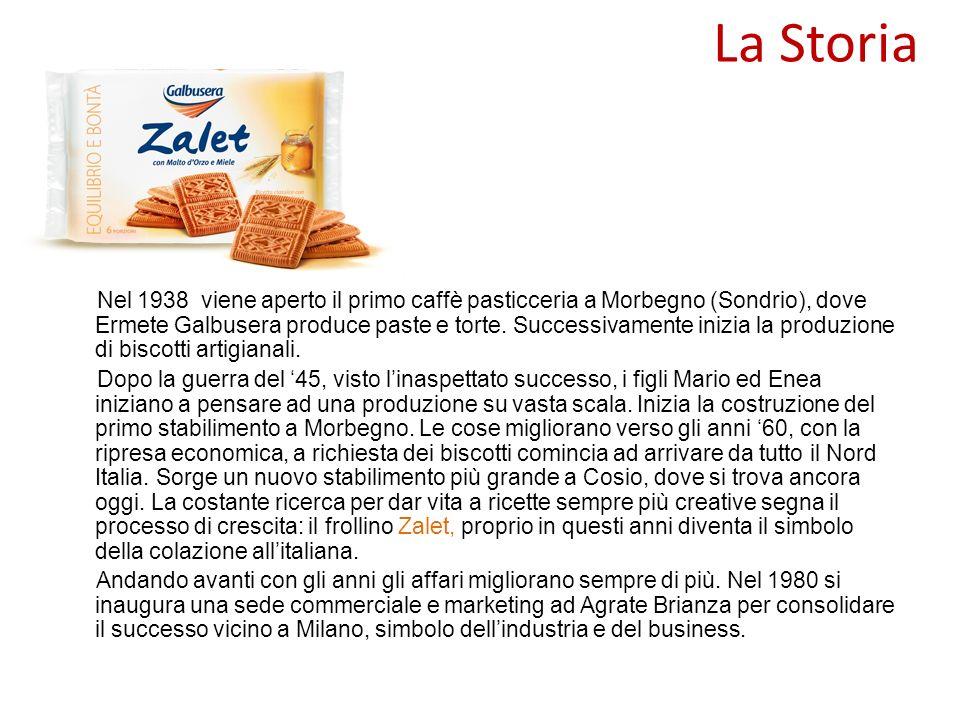 La Storia Nel 1938 viene aperto il primo caffè pasticceria a Morbegno (Sondrio), dove Ermete Galbusera produce paste e torte. Successivamente inizia l