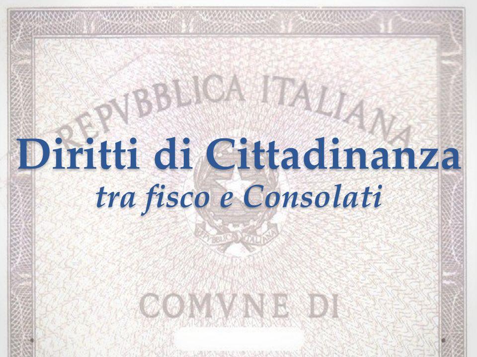 Diritti di Cittadinanza tra fisco e Consolati