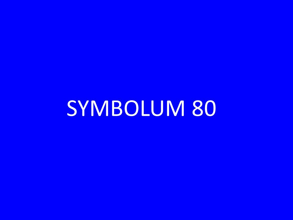SYMBOLUM 80