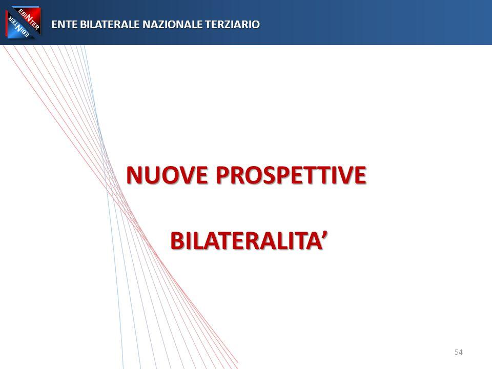 NUOVE PROSPETTIVE BILATERALITA ENTE BILATERALE NAZIONALE TERZIARIO ENTE BILATERALE NAZIONALE TERZIARIO 54