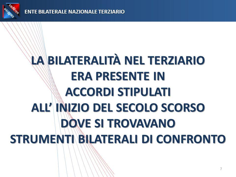 I COMPITI PRINCIPALI DI EBINTER ENTE BILATERALE NAZIONALE TERZIARIO ENTE BILATERALE NAZIONALE TERZIARIO ENTE BILATERALE NAZIONALE TERZIARIO 18