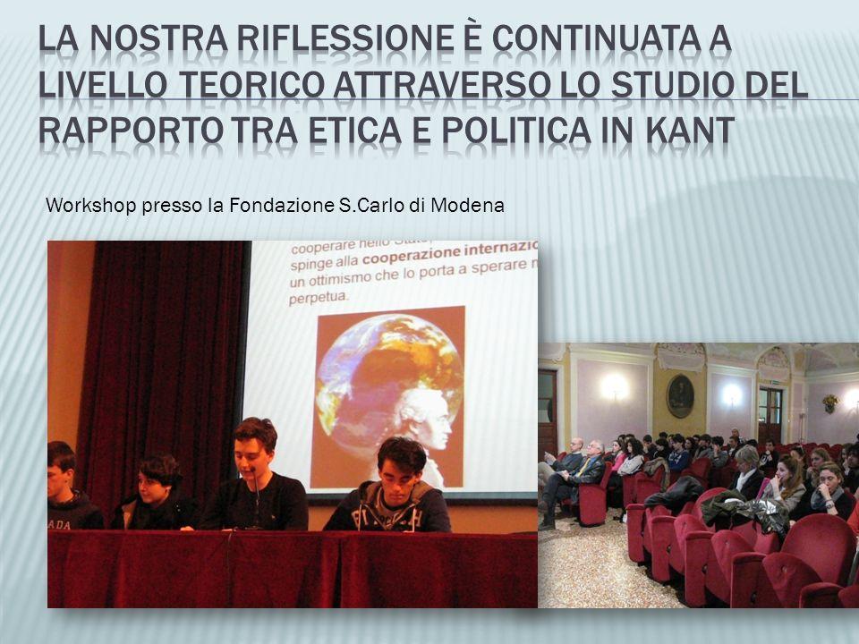 Workshop presso la Fondazione S.Carlo di Modena