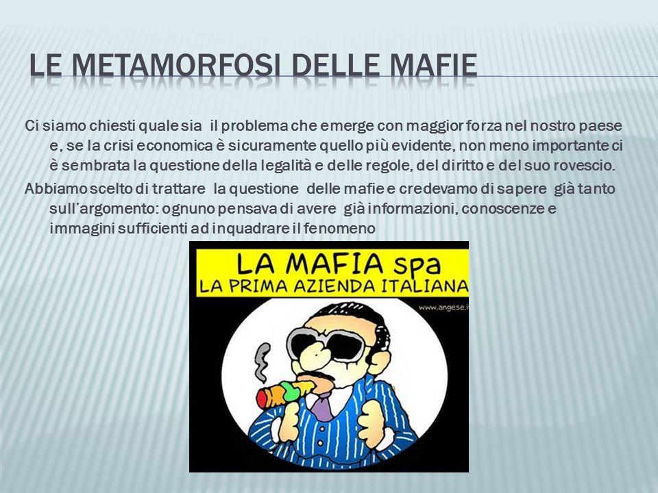 Chi può essere definito mafioso.Dove è diffusa la mafia.
