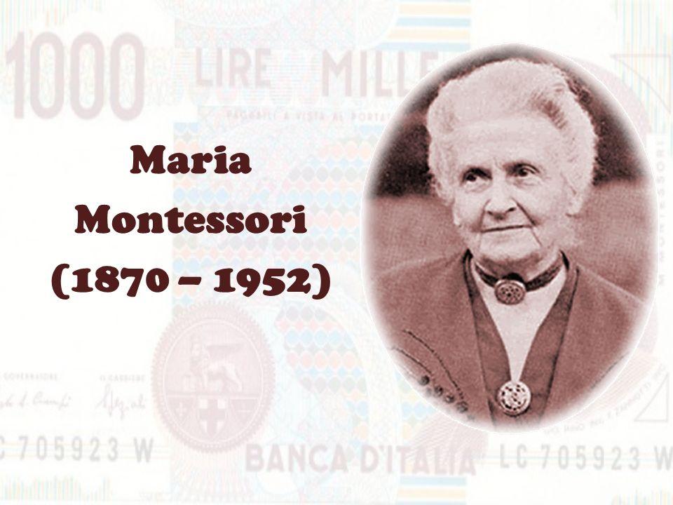 MARIA MONTESSORI Vi voglio raccontare di Maria Montessori, figura di rilievo dal punto di vista pedagogico, in quanto fu una delle prime donne medico in Italia dopo lUnità.
