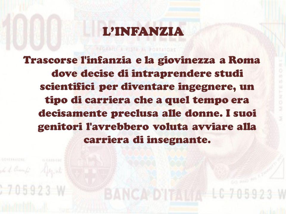 LINFANZIA Trascorse l'infanzia e la giovinezza a Roma dove decise di intraprendere studi scientifici per diventare ingegnere, un tipo di carriera che