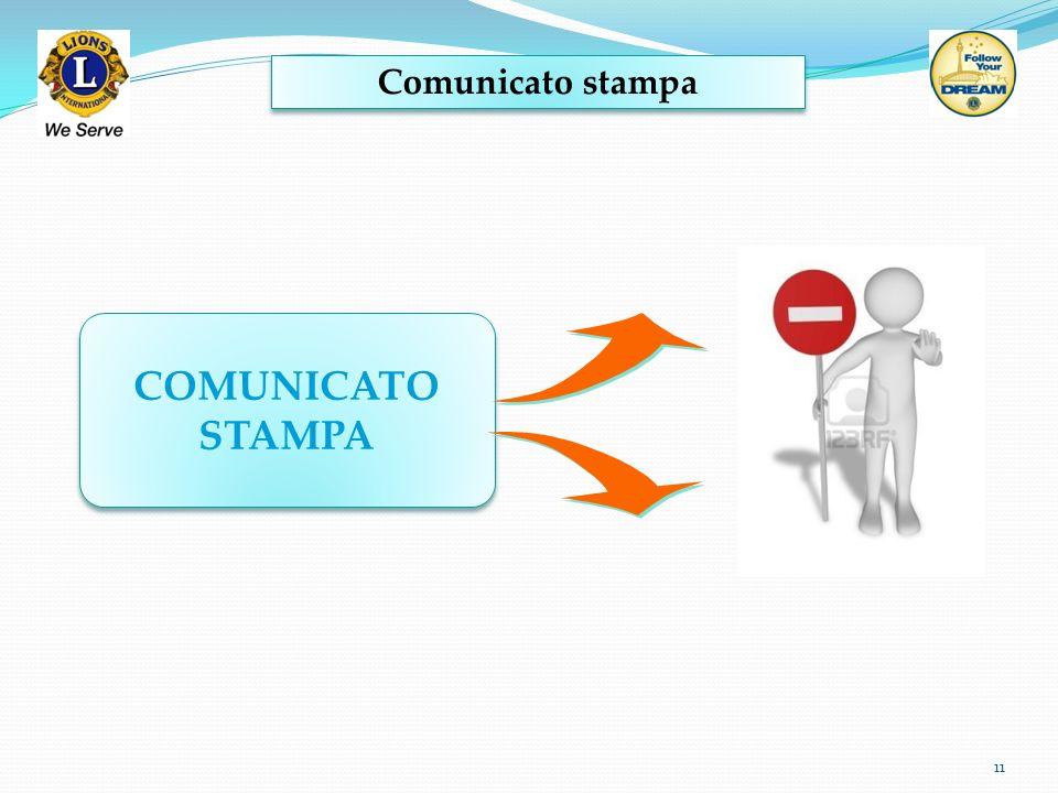 Comunicato stampa 11 COMUNICATO STAMPA COMUNICATO STAMPA