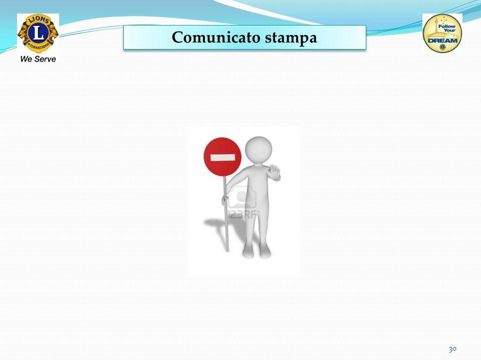 Comunicato stampa 30
