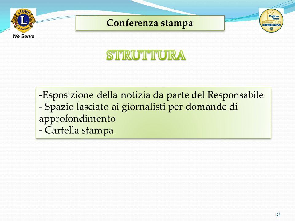 Conferenza stampa 33 -Esposizione della notizia da parte del Responsabile - Spazio lasciato ai giornalisti per domande di approfondimento - Cartella s