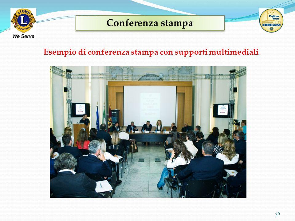 Conferenza stampa 36 Esempio di conferenza stampa con supporti multimediali