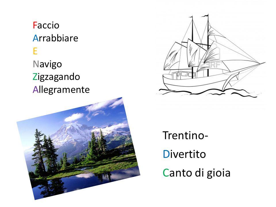 Faccio Arrabbiare E Navigo Zigzagando Allegramente Trentino- Divertito Canto di gioia