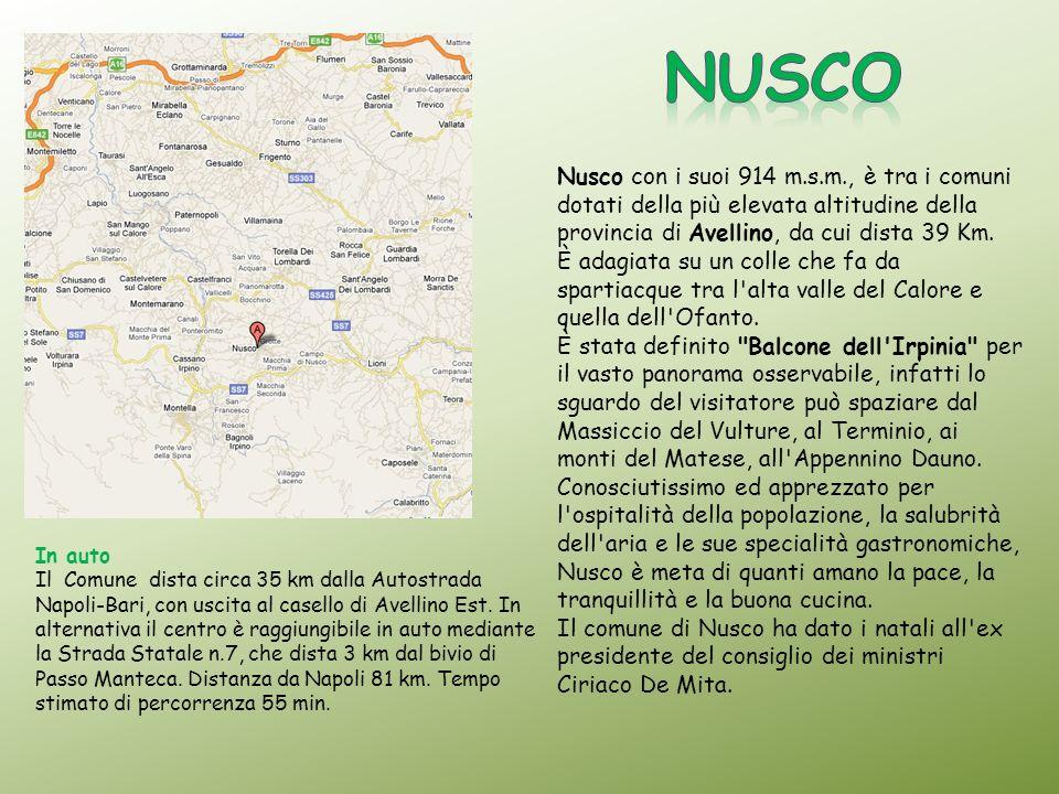 In auto Il Comune dista circa 35 km dalla Autostrada Napoli-Bari, con uscita al casello di Avellino Est. In alternativa il centro è raggiungibile in a