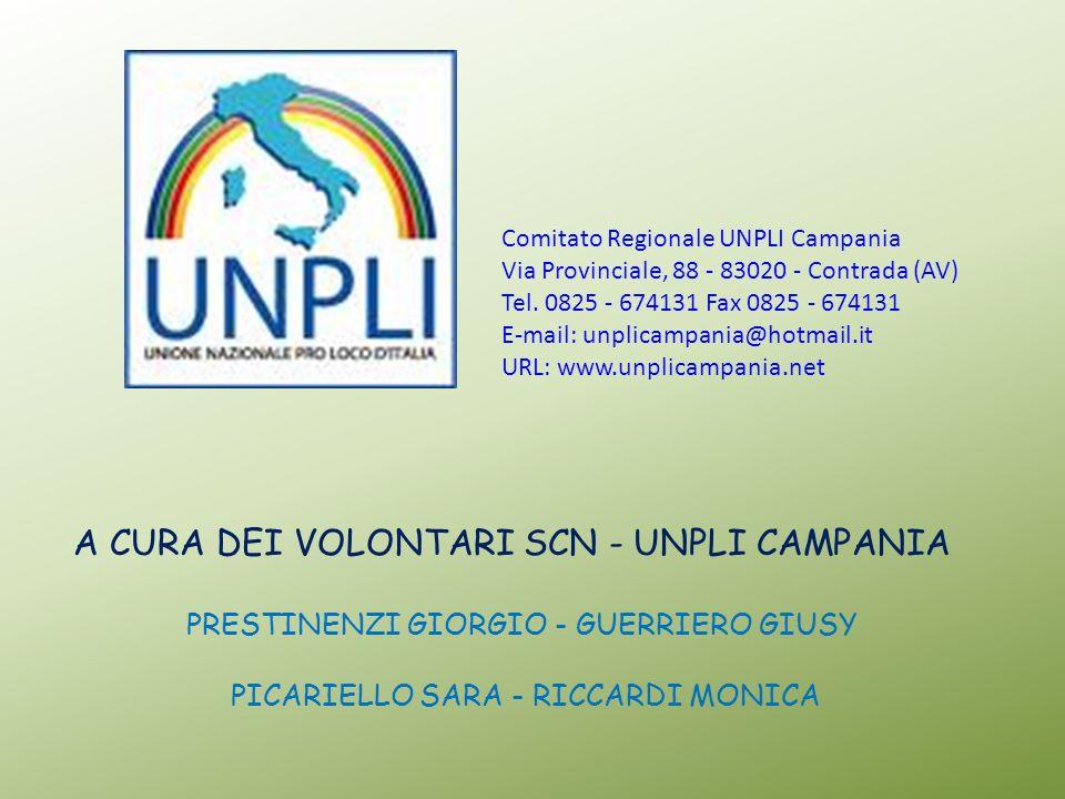 Comitato Regionale UNPLI Campania Via Provinciale, 88 - 83020 - Contrada (AV) Tel. 0825 - 674131 Fax 0825 - 674131 E-mail: unplicampania@hotmail.it UR
