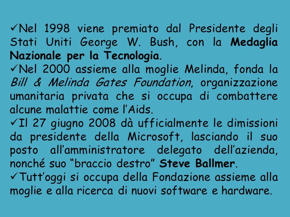 Nel 1998 viene premiato dal Presidente degli Stati Uniti George W. Bush, con la Medaglia Nazionale per la Tecnologia. Nel 2000 assieme alla moglie Mel