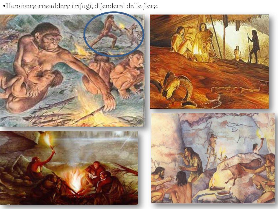 Illuminare,riscaldare i rifugi, difendersi dalle fiere.