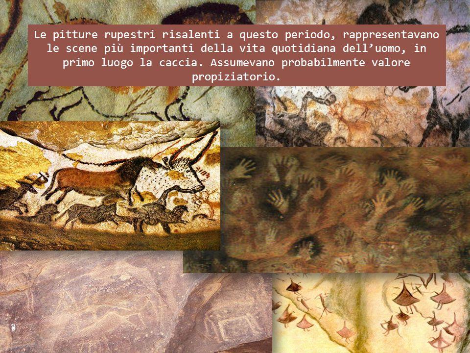 Le pitture rupestri risalenti a questo periodo, rappresentavano le scene più importanti della vita quotidiana delluomo, in primo luogo la caccia. Assu