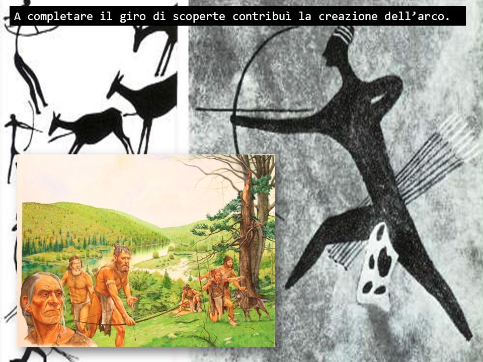A completare il giro di scoperte contribuì la creazione dellarco.