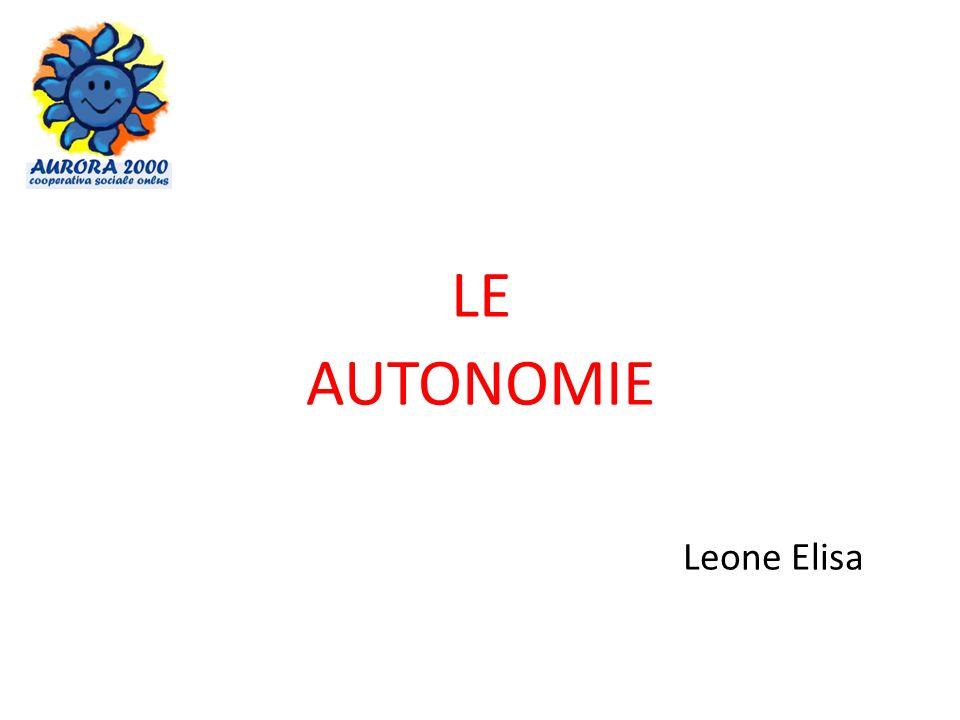 LE AUTONOMIE Leone Elisa
