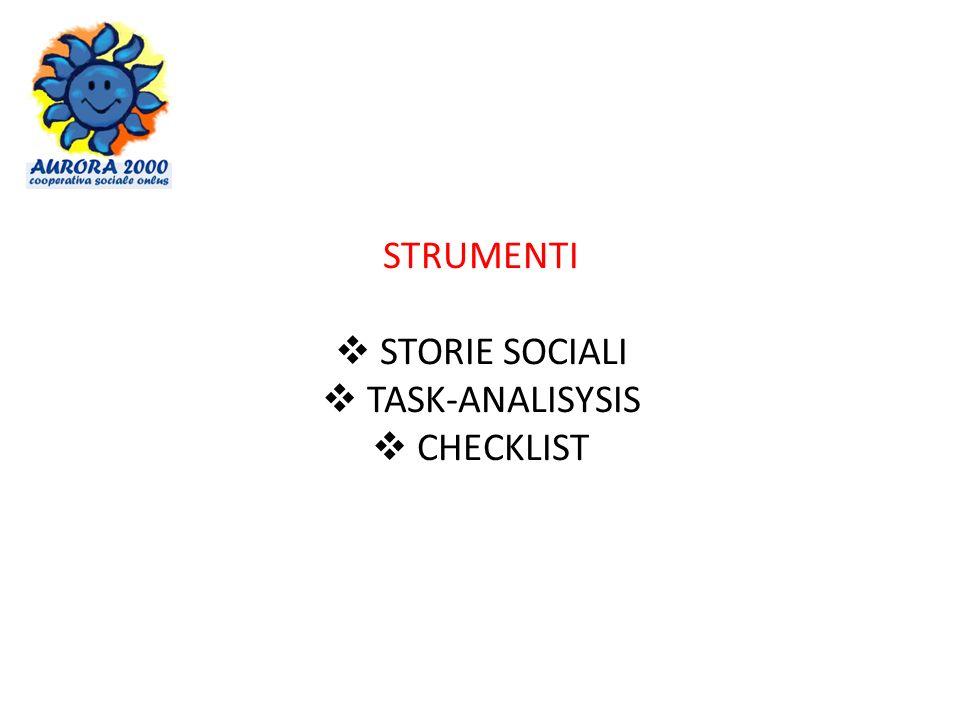 STRUMENTI STORIE SOCIALI TASK-ANALISYSIS CHECKLIST