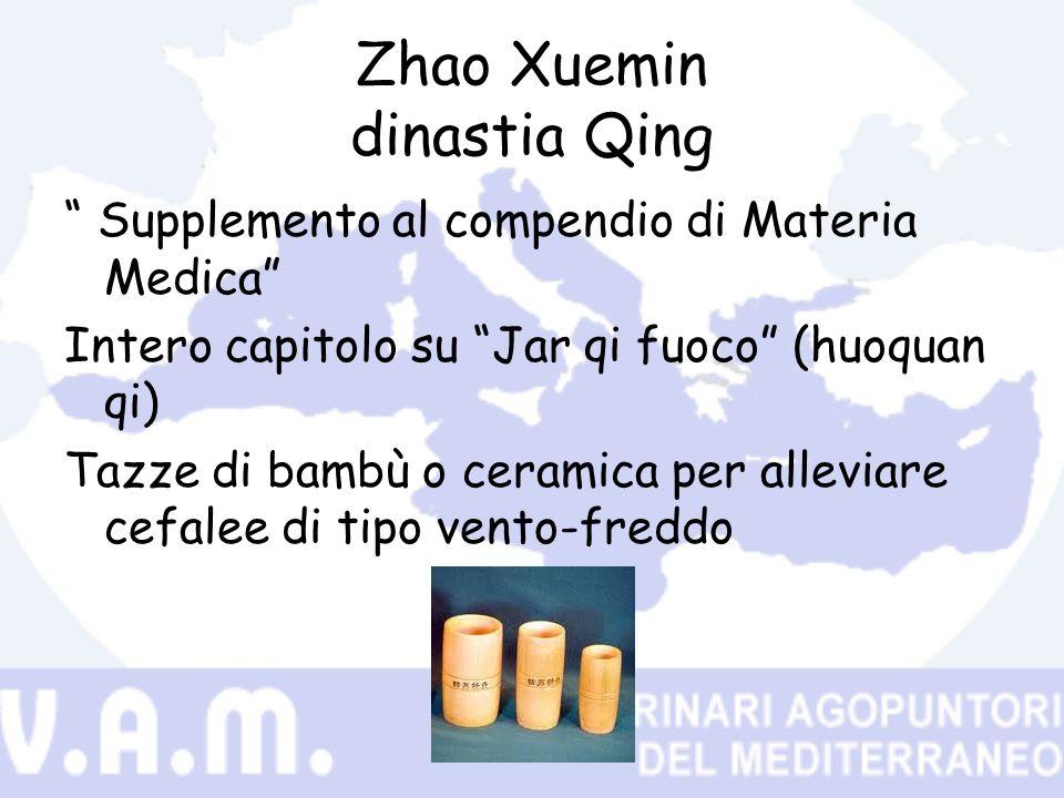Zhao Xuemin dinastia Qing Supplemento al compendio di Materia Medica Intero capitolo su Jar qi fuoco (huoquan qi) Tazze di bambù o ceramica per allevi