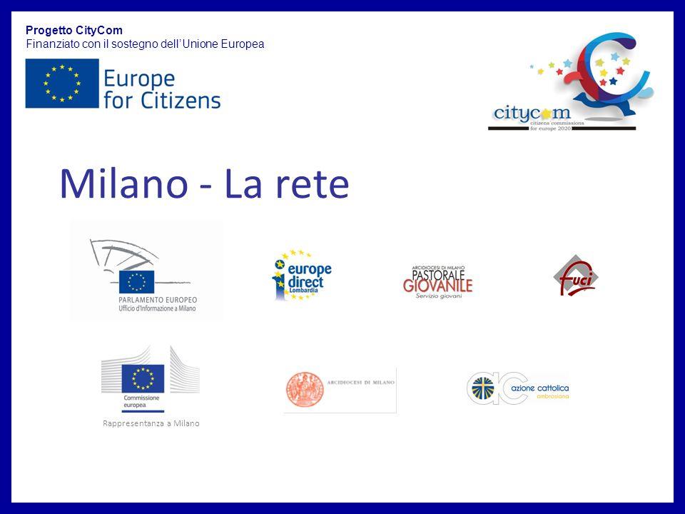 Milano - La rete Progetto CityCom Finanziato con il sostegno dellUnione Europea Rappresentanza a Milano
