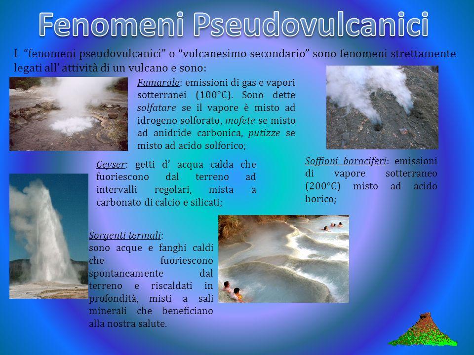 Fase premonitrice: questa fase precede l attività vulcanica. Consiste nel riscaldamento di acque sorgenti o boati sotterranei. Fase esplosiva: consist