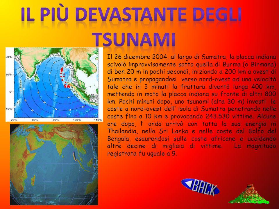 . epicentro Salita del fondale marino Livello del mare Onda al largo Muro d acqua Quando l epicentro del terremoto si trova in mare, le onde sismiche