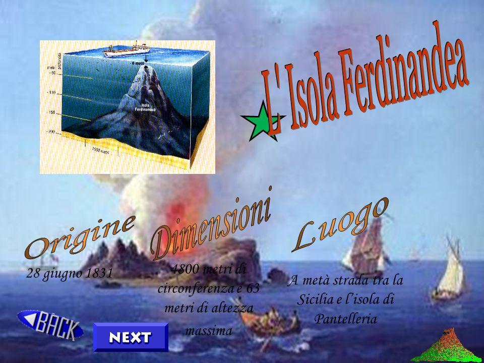 Isola Ferdinandea Vulcani terrestri Isole vulcaniche Vulcani marini Isole Vulcaniche Sottomarine