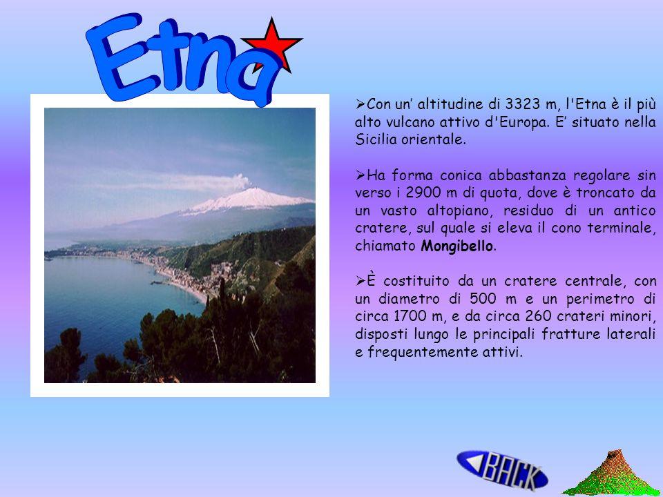 Vulcani terrestri Isole vulcaniche Vulcani marini Isole Vulcaniche Sottomarine Etna