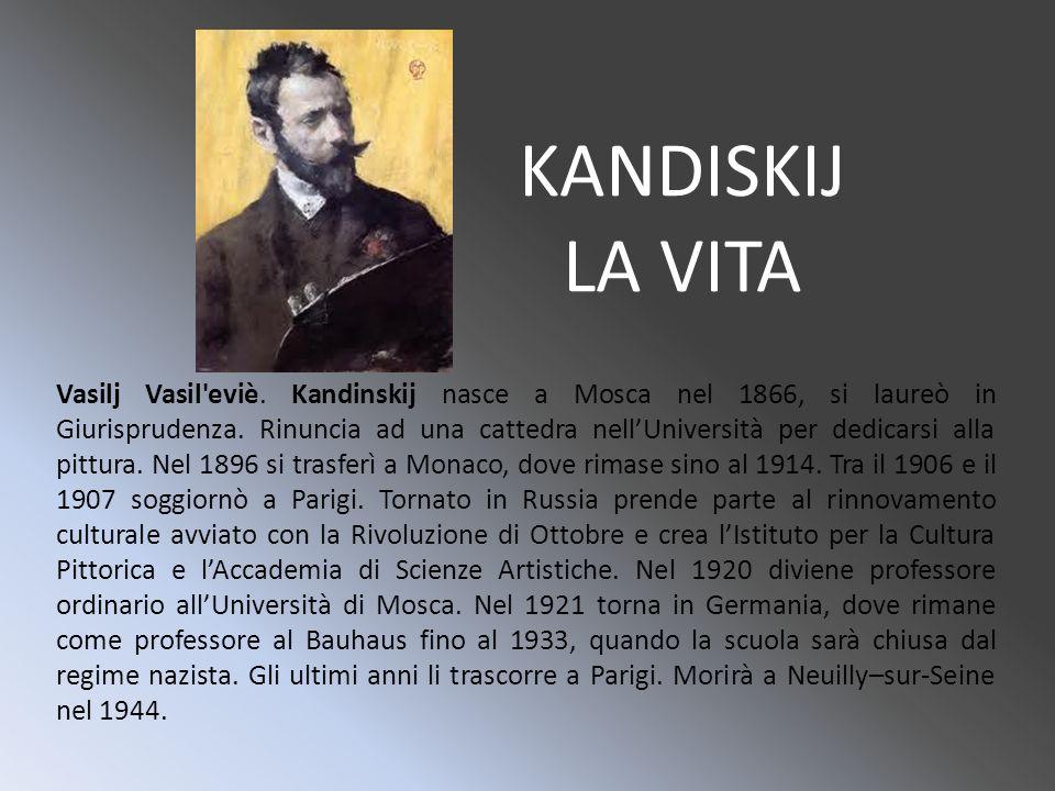Linteresse per la pittura nasce in Kandinsky dopo aver visto un quadro di Monet che aveva come soggetto un covone di fieno.