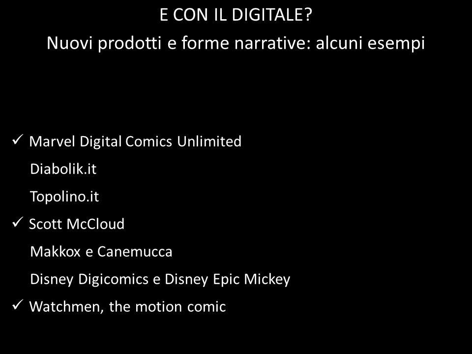 Marvel Digital Comics Unlimited Diabolik.it Topolino.it Scott McCloud Makkox e Canemucca Disney Digicomics e Disney Epic Mickey Watchmen, the motion c