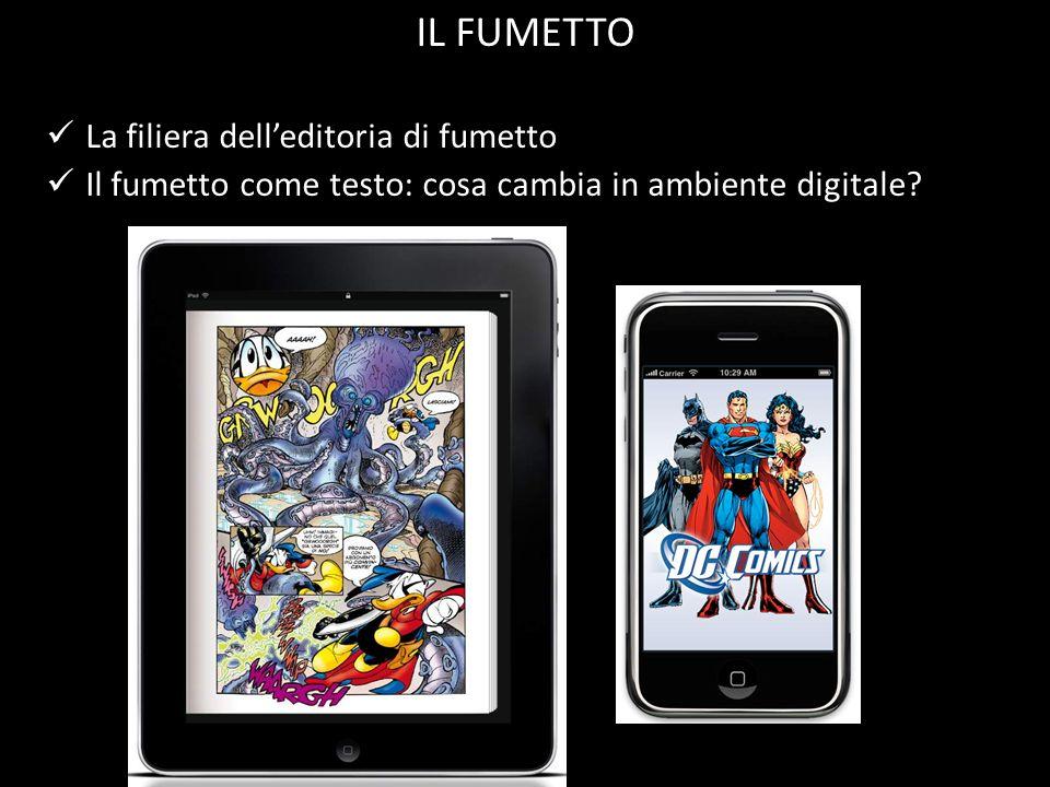 La filiera delleditoria di fumetto Il fumetto come testo: cosa cambia in ambiente digitale? IL FUMETTO