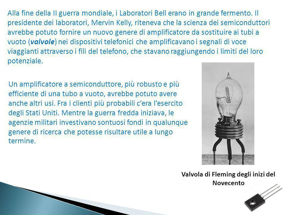 Alla fine della II guerra mondiale, i Laboratori Bell erano in grande fermento. Il presidente dei laboratori, Mervin Kelly, riteneva che la scienza de