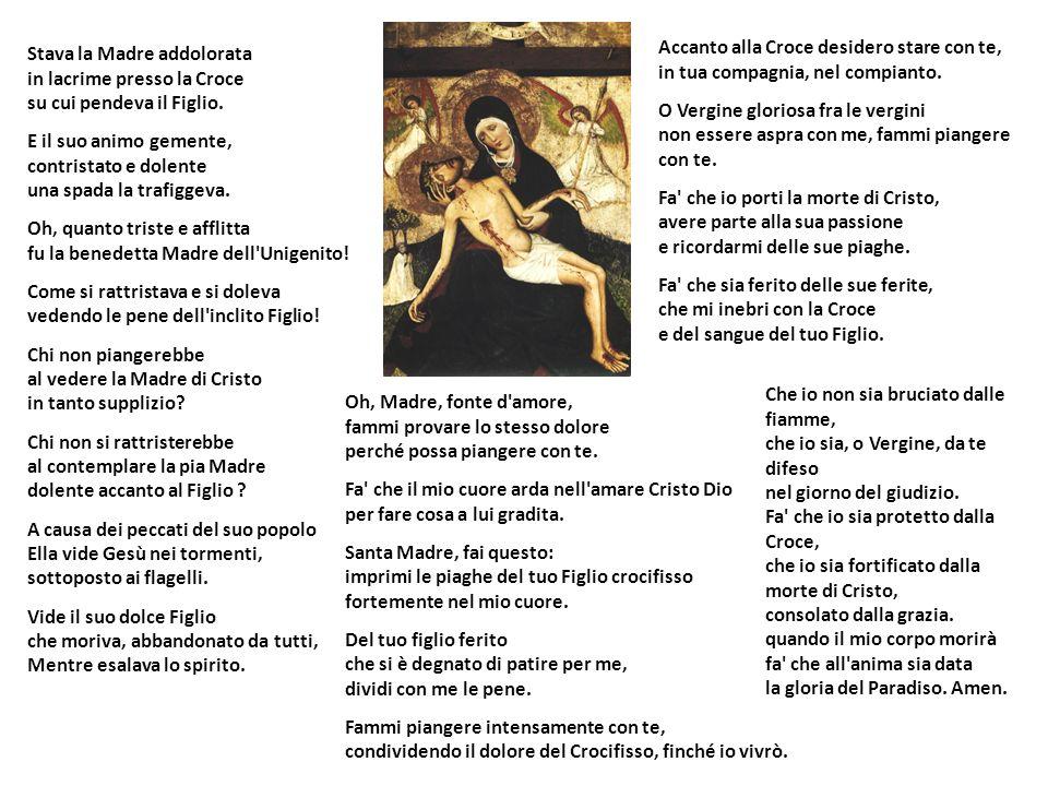 Come Francesco egli amava lumanità del Figlio di Dio e la sua passione patita per noi, come emerge nella lauda: Donna de Paradiso,/ lo tuo figliolo è preso/ Isù Cristo beato.