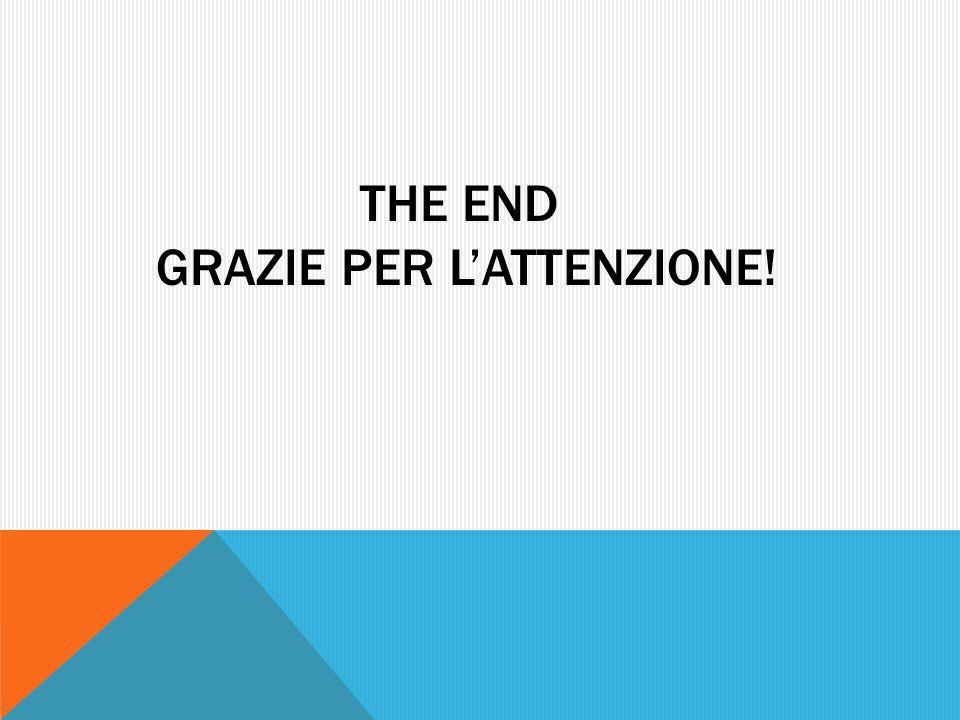 THE END GRAZIE PER LATTENZIONE!