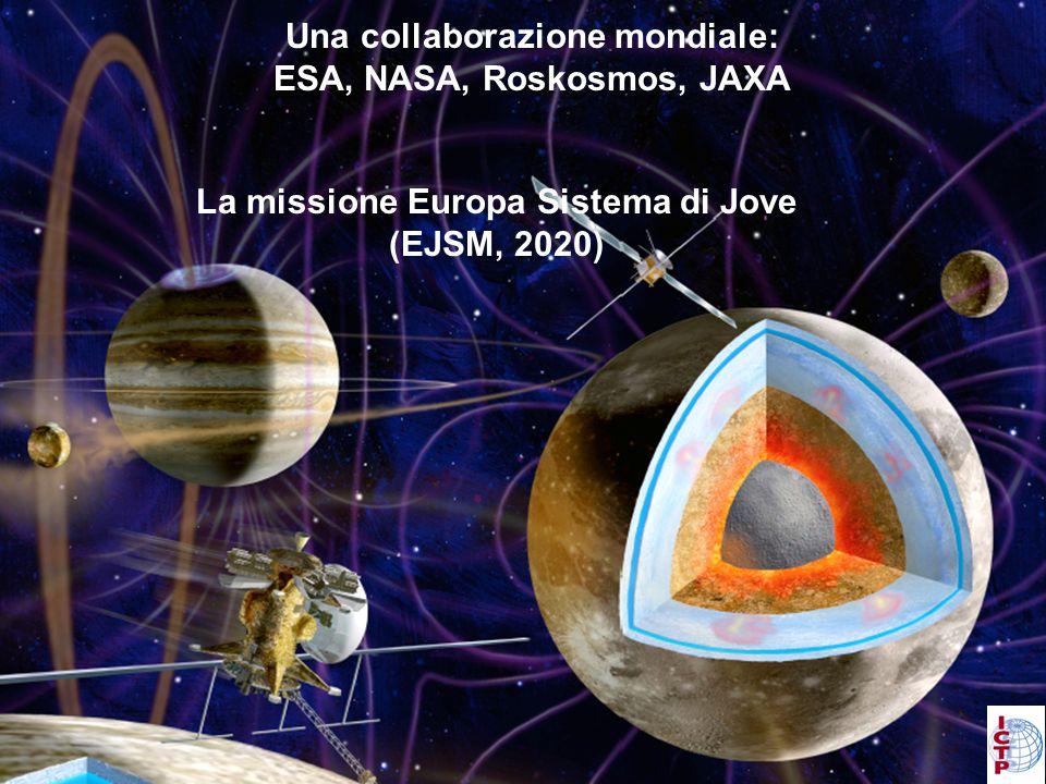Una collaborazione mondiale: ESA, NASA, Roskosmos, JAXA La missione Europa Sistema di Jove (EJSM, 2020)