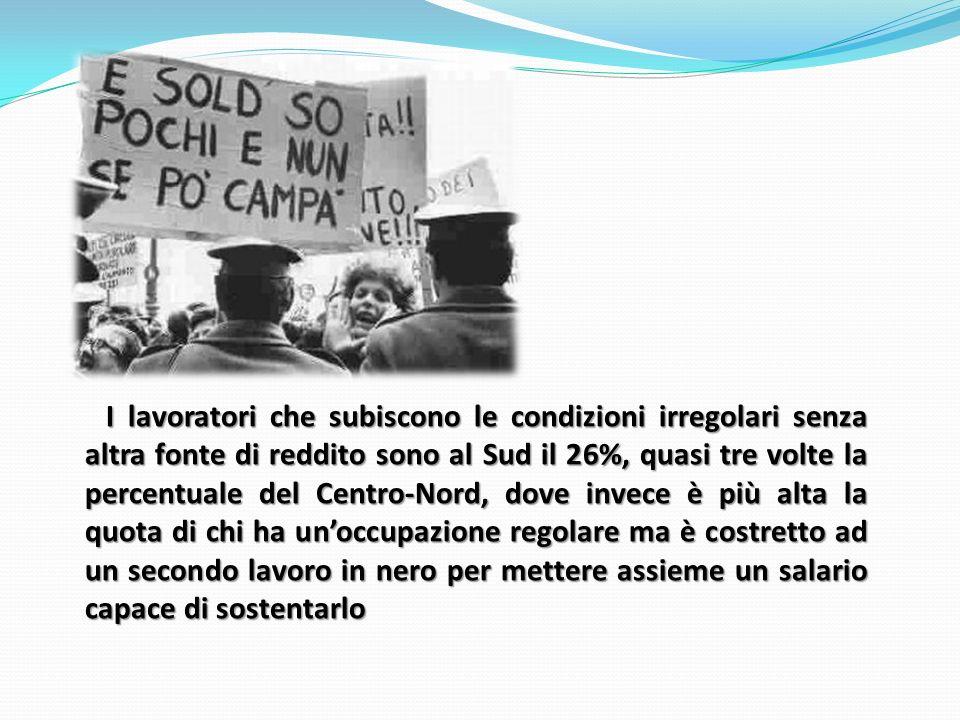 SUD ITALIA TRAVOLTO DALLA CRISI.