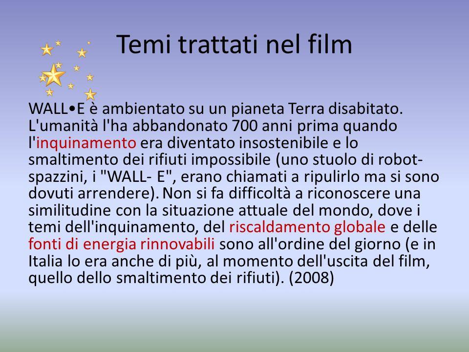 Temi trattati nel film WALLE è ambientato su un pianeta Terra disabitato.
