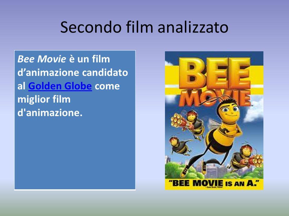 Secondo film analizzato Bee Movie è un film danimazione candidato al Golden Globe come miglior film d'animazione.Golden Globe
