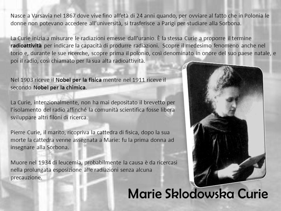 Nasce a Varsavia nel 1867 dove vive fino alletà di 24 anni quando, per ovviare al fatto che in Polonia le donne non potevano accedere alluniversità, si trasferisce a Parigi per studiare alla Sorbona.
