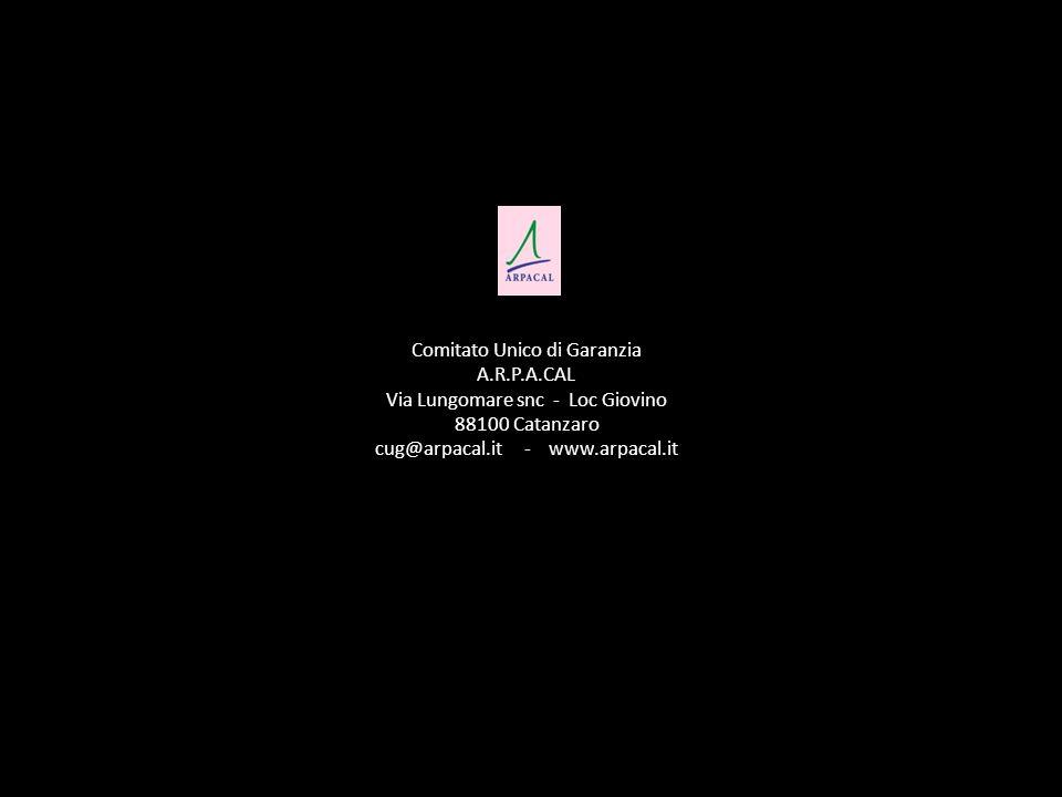 Comitato Unico di Garanzia A.R.P.A.CAL Via Lungomare snc - Loc Giovino 88100 Catanzaro cug@arpacal.it - www.arpacal.it