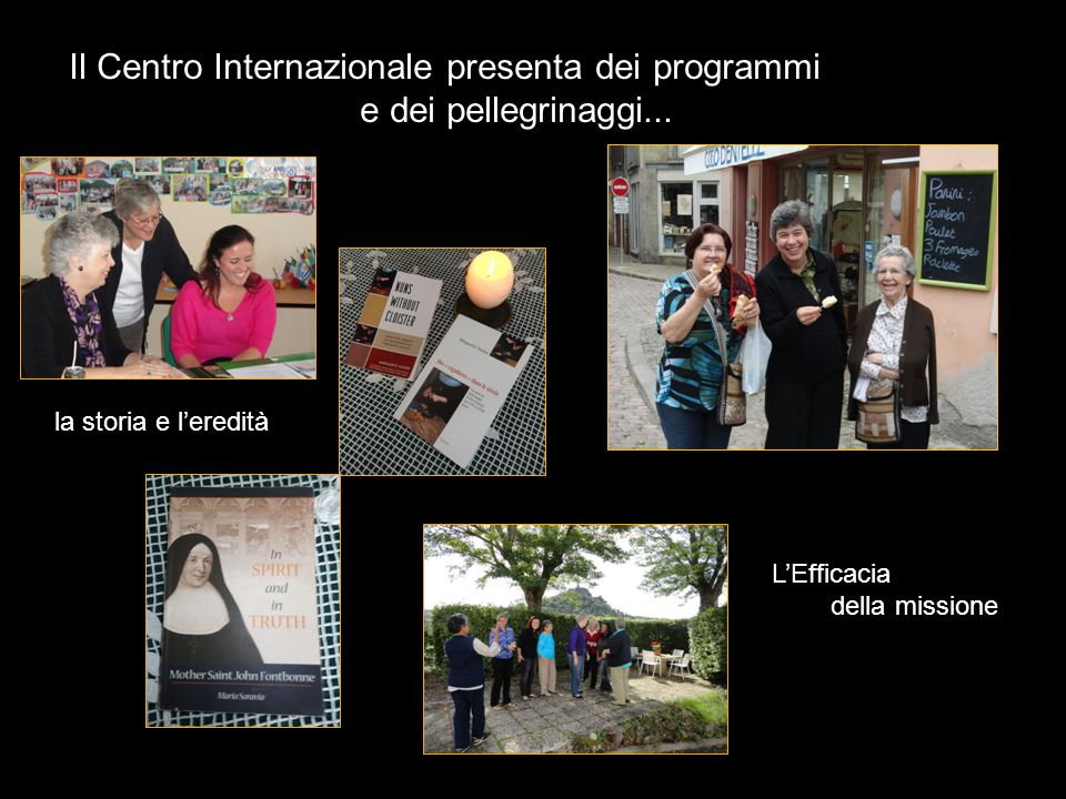 Il Centro Internazionale presenta dei programmi e dei pellegrinaggi...