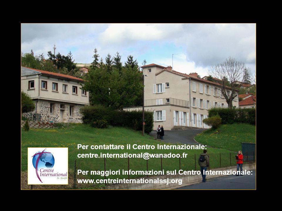 Per contattare il Centro Internazionale: centre.international@wanadoo.fr Per maggiori informazioni sul Centro Internazionale: www.centreinternationalssj.org
