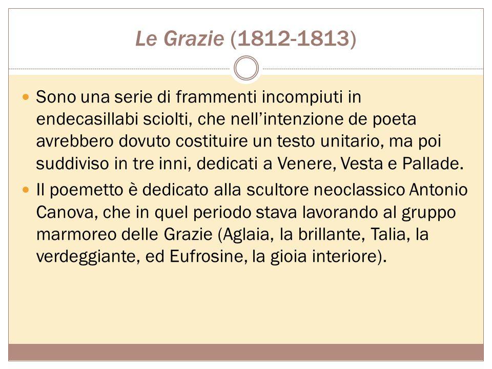 Tematiche In sintesi, I Sepolcri sono un carme: civile, riprendendo la concezione di Vico della storia come passaggio dalla barbarie alla civiltà, Fos