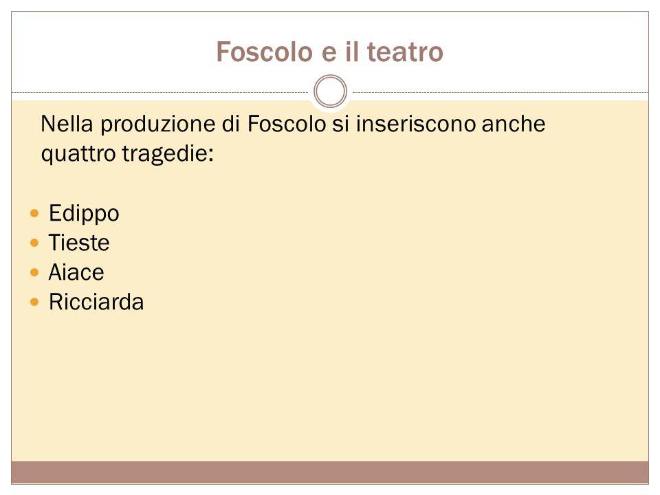 Foscolo critico Ugo Foscolo svolse una notevole attività critica, inizialmente discontinua e disorganica, intensificatasi solo nell'ultimo periodo del