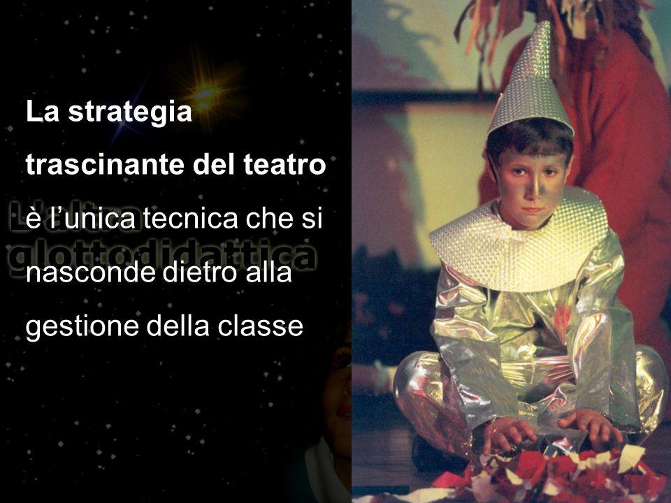 La strategia trascinante del teatro è lunica tecnica che si nasconde dietro alla gestione della classe