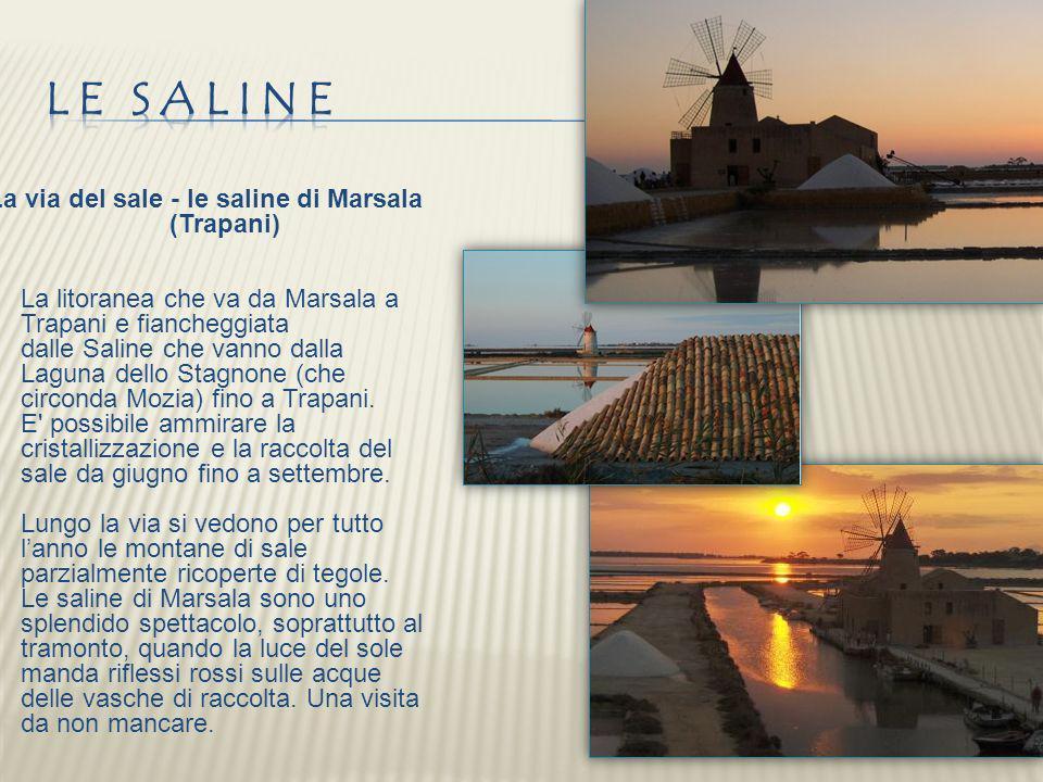 La via del sale - le saline di Marsala (Trapani) La litoranea che va da Marsala a Trapani e fiancheggiata dalle Saline che vanno dalla Laguna dello St