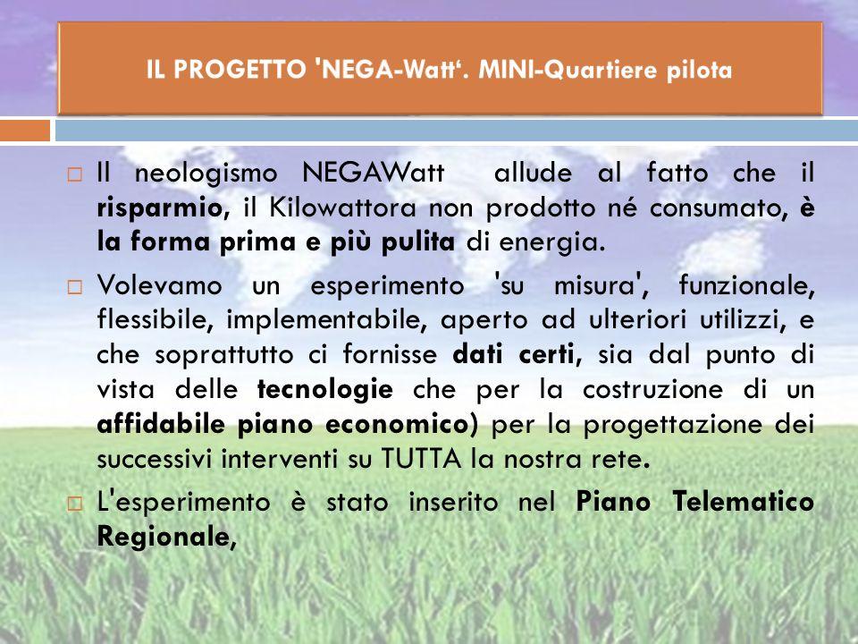 Il neologismo NEGAWatt allude al fatto che il risparmio, il Kilowattora non prodotto né consumato, è la forma prima e più pulita di energia. Volevamo